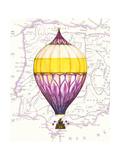 Vintage Purple Air Balloon