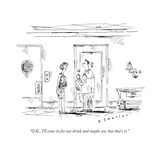 """""""OK  I'll come in for one drink and maybe sex  but that's it"""" - New Yorker Cartoon"""