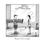 """We get it You're straight"" - New Yorker Cartoon"
