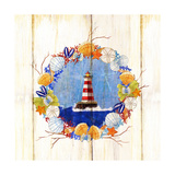 Coastal Lighthouse Wreath