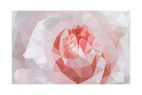 Rose Closeup in Low Poly Style