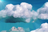 Clouds and Mountains Polygon Style