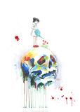 Crâne Reproduction d'art par Lora Zombie