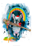 Frenchie Reproduction d'art par Lora Zombie