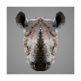 Rhinoceros Low Poly Portrait