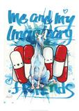 Imaginary Friends Reproduction d'art par Lora Zombie