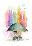 Umbrella Boy Reproduction d'art par Lora Zombie