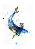 Baleine Reproduction d'art par Lora Zombie