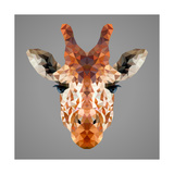 Giraffe Low Poly Portrait