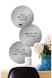 Silver 3 Dots Dry Erase Wall Decal