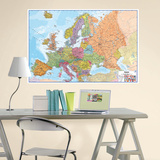 Europe Dry Erase Map Wall Decal
