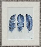 Indigo Blue Feathers II