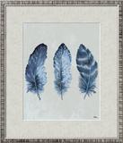 Indigo Blue Feathers I