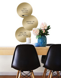 Gold 3 Dots Dry Erase Wall Decal