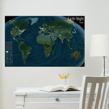 National Geographic Earth at Night Glow in the Dark Wall Decal
