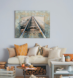Tracks  - Dimensional Metal Wall Art