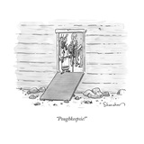 """Poughkeepsie!"" - New Yorker Cartoon"