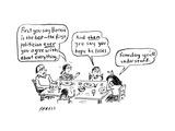 A family discusses politics - Cartoon
