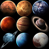 Hight Quality Isolated Solar System Planets Elements of this Image Furnished by NASA