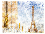 City Art Paris Eiffel Tower II Reproduction d'art par Melanie Viola