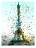 City Art Paris Eiffel Tower Reproduction d'art par Melanie Viola