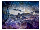 City-Art London Westminster Bridge At Sunset Reproduction d'art par Melanie Viola
