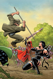 Contest of Champions No4 Cover  Featuring Stick  Guillotine and Elektra
