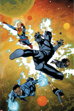 Ultimates No3 Cover  Featuring Captain Marvel  Black Panther  Monica Rambeau  Blue Marvel and More