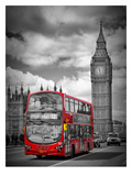 London Westminster Bridge Traffic Reproduction d'art par Melanie Viola