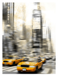 City Art Times Square Yellow Cabs