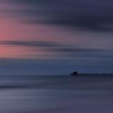 Scenery Art Florida Sunset Naples Pier Reproduction d'art par Melanie Viola