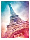 Modern Art Paris Eiffel Tower Reproduction d'art par Melanie Viola