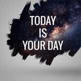 Motivational Quote at Deep Space Background Artistic Design For