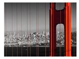 Golden Gate Bridge Panoramic View Reproduction d'art par Melanie Viola