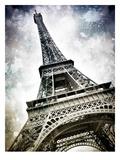 Modern Art Paris Eiffel Tower Splashes Reproduction d'art par Melanie Viola