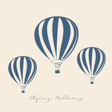 FLYING BALLOONS VECTOR ILLUSTRATION
