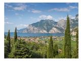 Lake Garda Panoramic View Reproduction d'art par Melanie Viola
