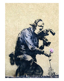 Photographer Flower Reproduction d'art par Banksy