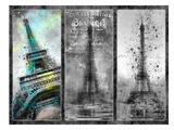 City-Art Paris Eiffel Tower Collage Reproduction d'art par Melanie Viola