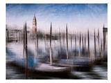 City Art Venice Gondolas & Grand Canal Reproduction d'art par Melanie Viola