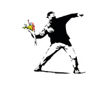 Flower Chucker Reproduction d'art par Banksy