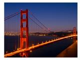 Golden Gate Bridge In The Evening Reproduction d'art par Melanie Viola