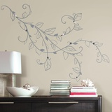 Silver Leaf Giant Peel and Stick Wall Decals with Pearls