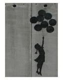 Balloon girl Reproduction d'art par Banksy