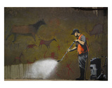 Cleaning Cave Drawings Reproduction d'art par Banksy