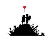 Amour Reproduction d'art par Banksy
