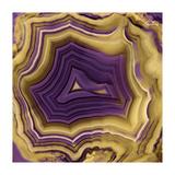 Agate in Purple & Gold II