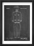 Military Uniform Patent Reproduction encadrée