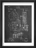 Vintage Alarm Clock Patent 1885 Reproduction encadrée