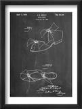 Vintage Beach Sandal 1934 Patent Reproduction encadrée